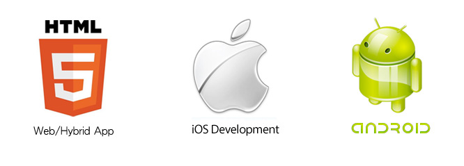 We provide iPhone, iPad, Android native app development and HTML5 Webapp